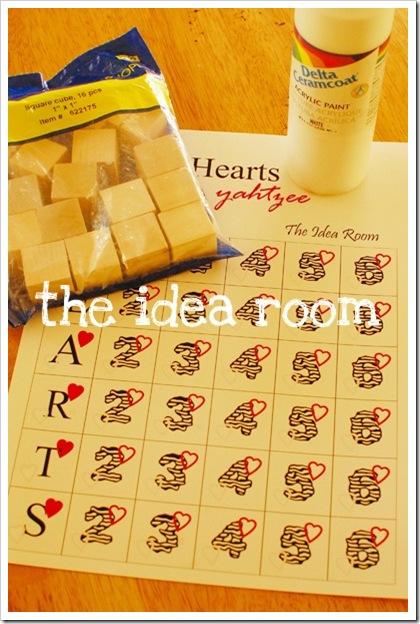 Valentines Yahtzee Game - The Idea Room